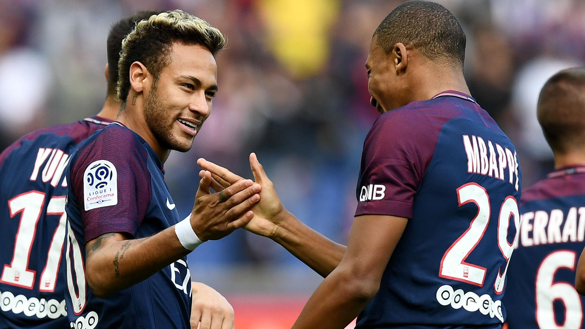 Neymar Kylian Mbappe PSG Bordeaux Ligue 1 30092017