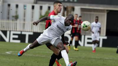 Gor Mahia defender Joash Onyango v USM Alger.