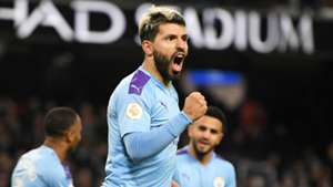 Aguero catches fire to threaten out-of-form Vardy