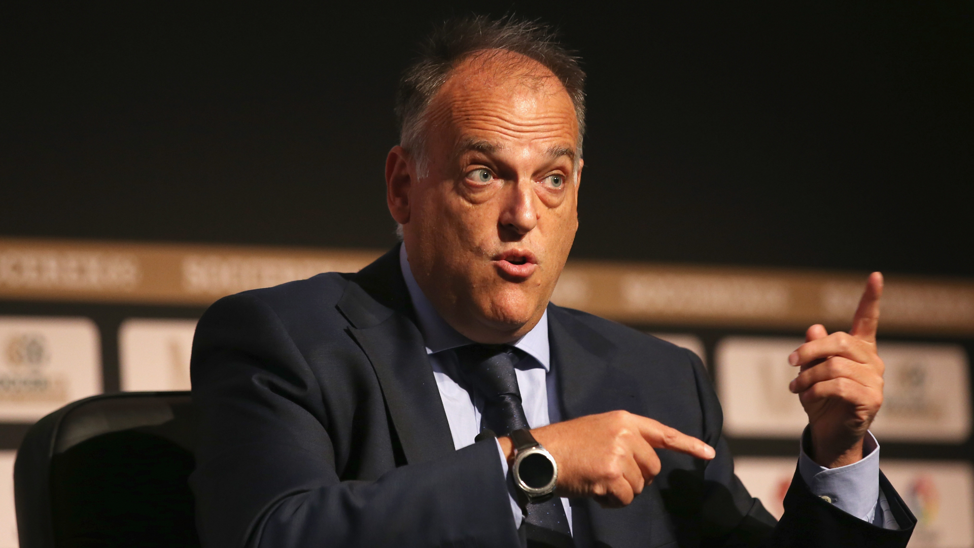 Tebas aims subtle dig at Man City and PSG while criticising financial 'doping'