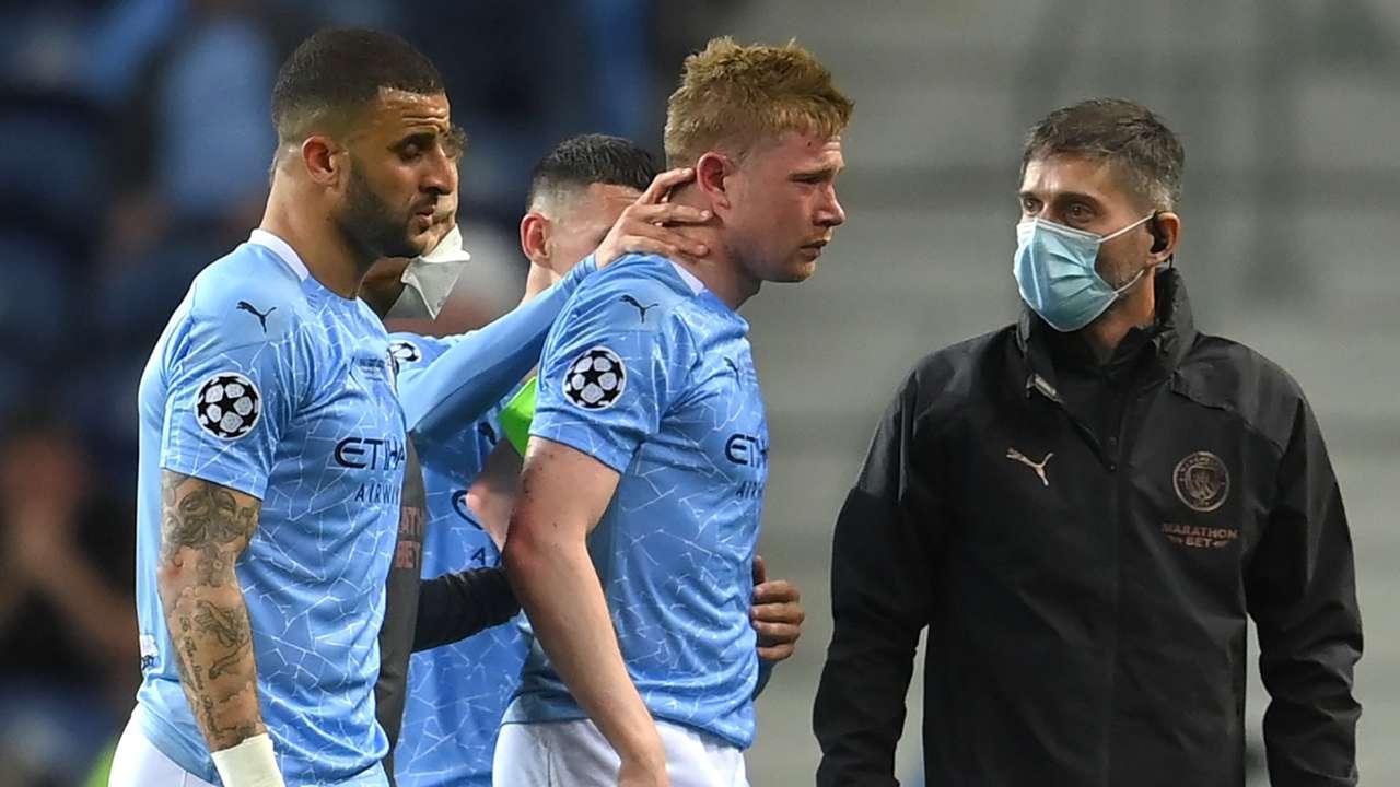 Kevin De Bruyne Man City vs Chelsea Champions League final 2020-21