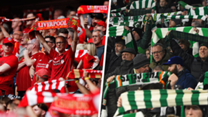 Liverpool fans Celtic fans