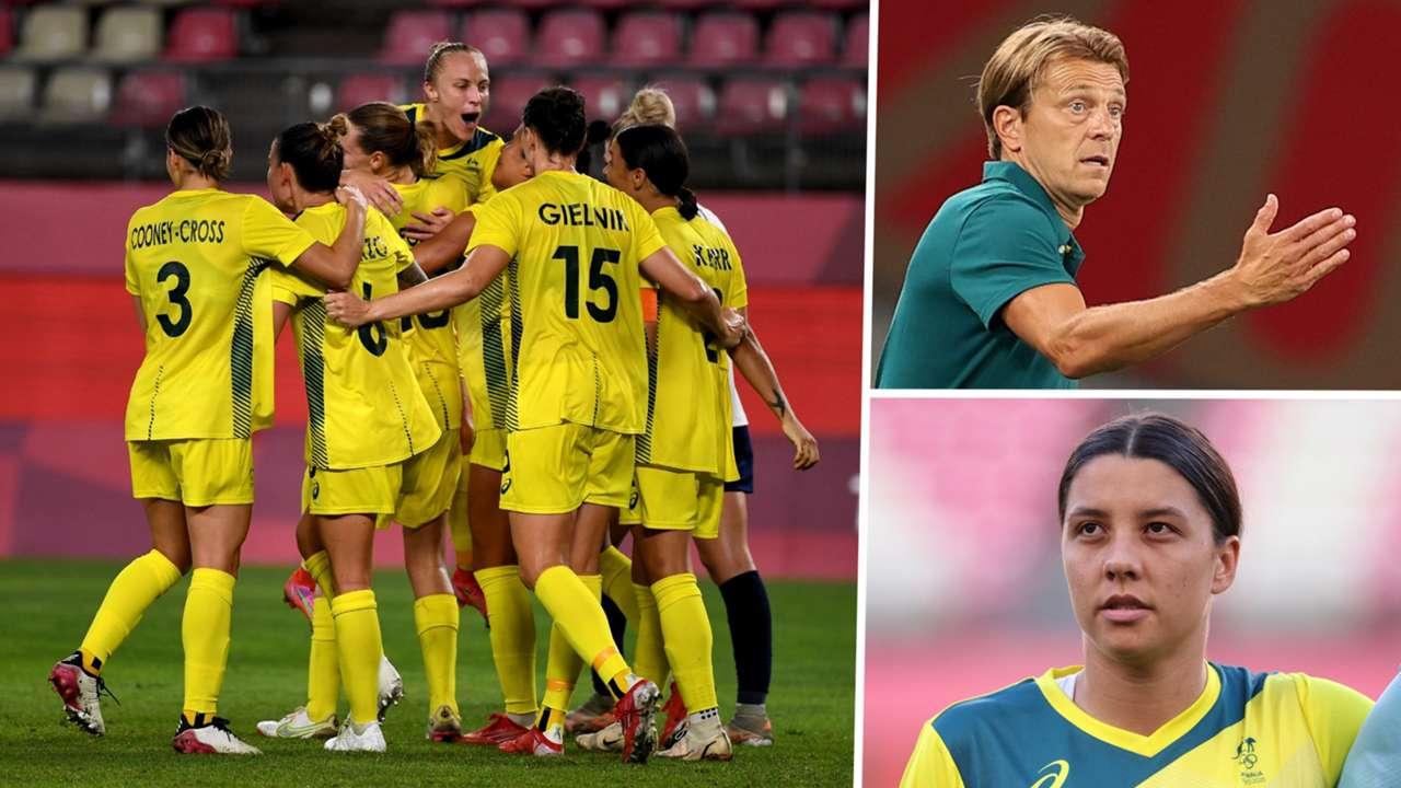 Sam Kerr Tony Gustavsson Australia Women composite