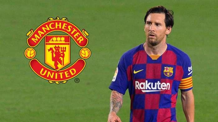 Lionel Messi - Man Utd composite