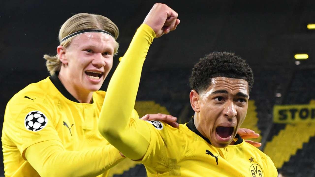 Jude Bellingham, Erling Haaland, Dortmund vs Man City 2020-21