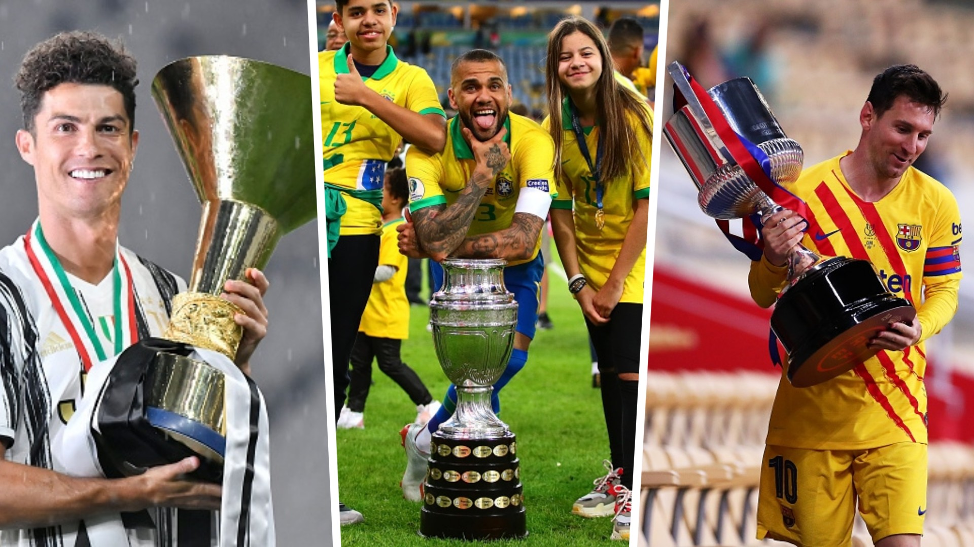 Alves, Messi or Ronaldo - Who are the top 5 active players with most trophies in club and international football