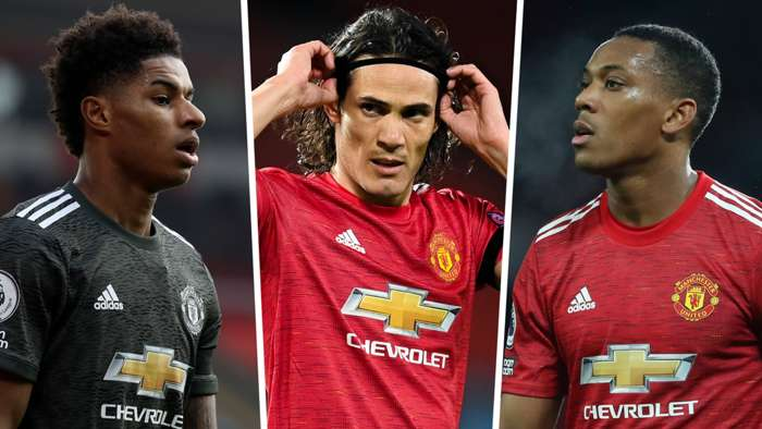Marcus Rashford Edinson Cavani Anthony Martial