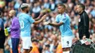 Sergio Aguero Gabriel Jesus Manchester City 2019-20