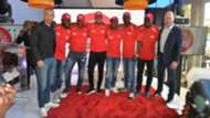 Samuel Eto'o at the launch of Castle Lager 5-a-side