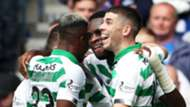 Odsonne Edouard celebration, Rangers vs Celtic 2019-20