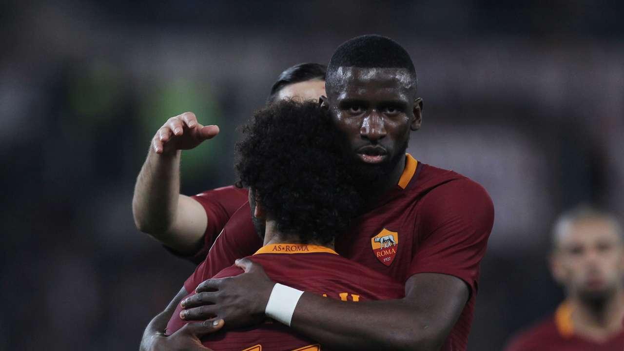 Antonio Rudiger Mohamed Salah Roma