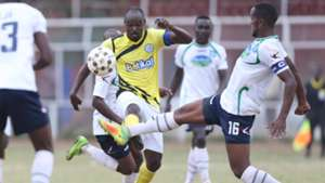 Hillary Echesa (L) and Suleiman Ngotho of Thika United.j