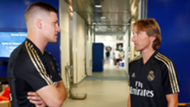 Luka Jovic and Luka Modric during the first day of the Real Madrid preseason
