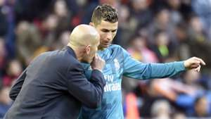Zinedine Zidane Cristiano Ronaldo Real Madrid 27012018