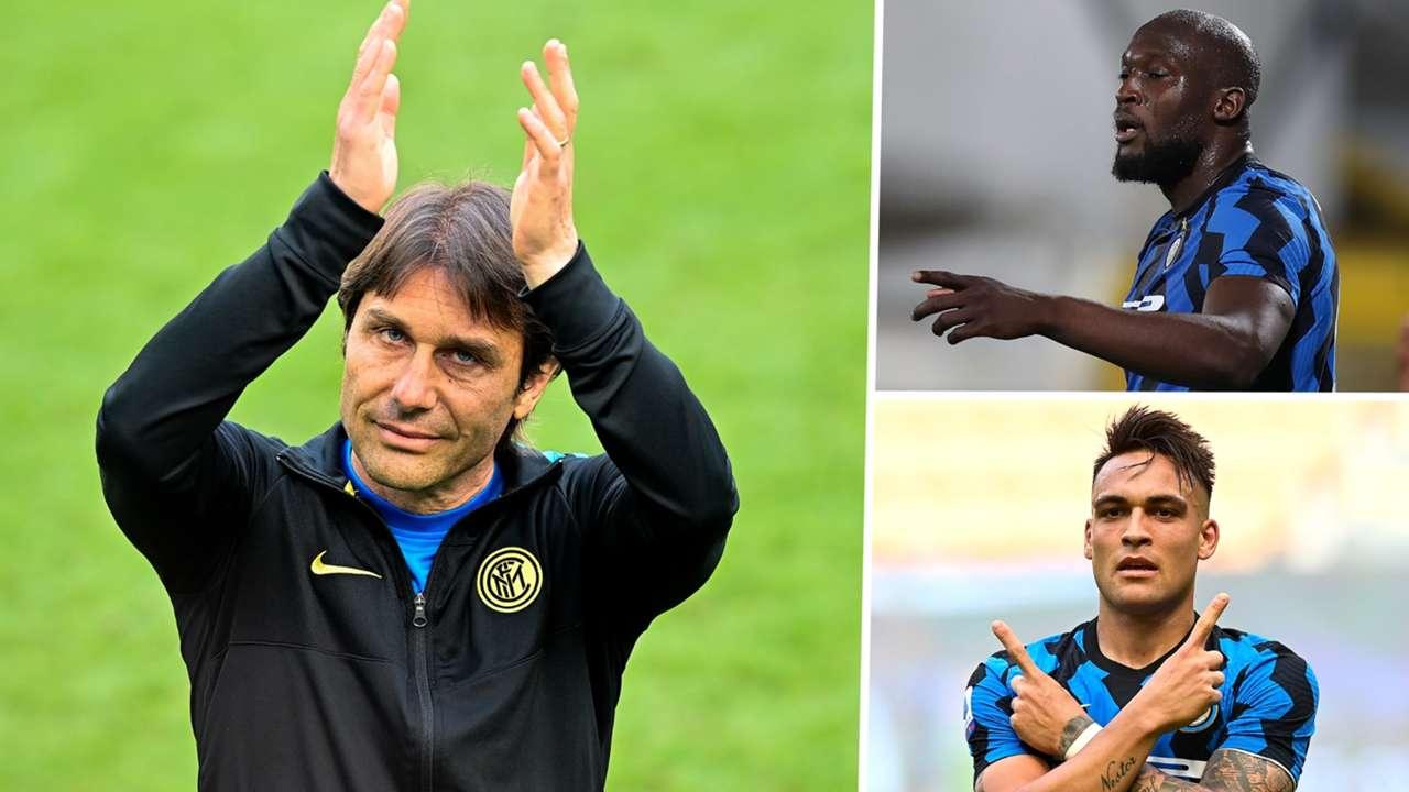 Antonio Conte Romelu Lukaku Lautaro Martinez Inter GFX