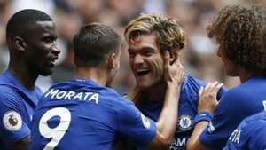 Marcos Alonso Chelsea celebrate