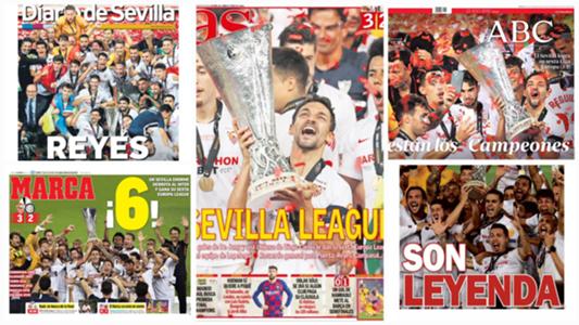 La sexta Europa League del Sevilla protagonista en las portadas de todo el mundo | Goal.com
