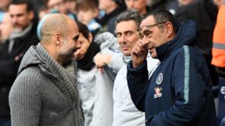 Maurizio Sarri Pep Guardiola Premier League Manchester City Chelsea 2018-19