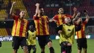 Benevento celebrating Serie B