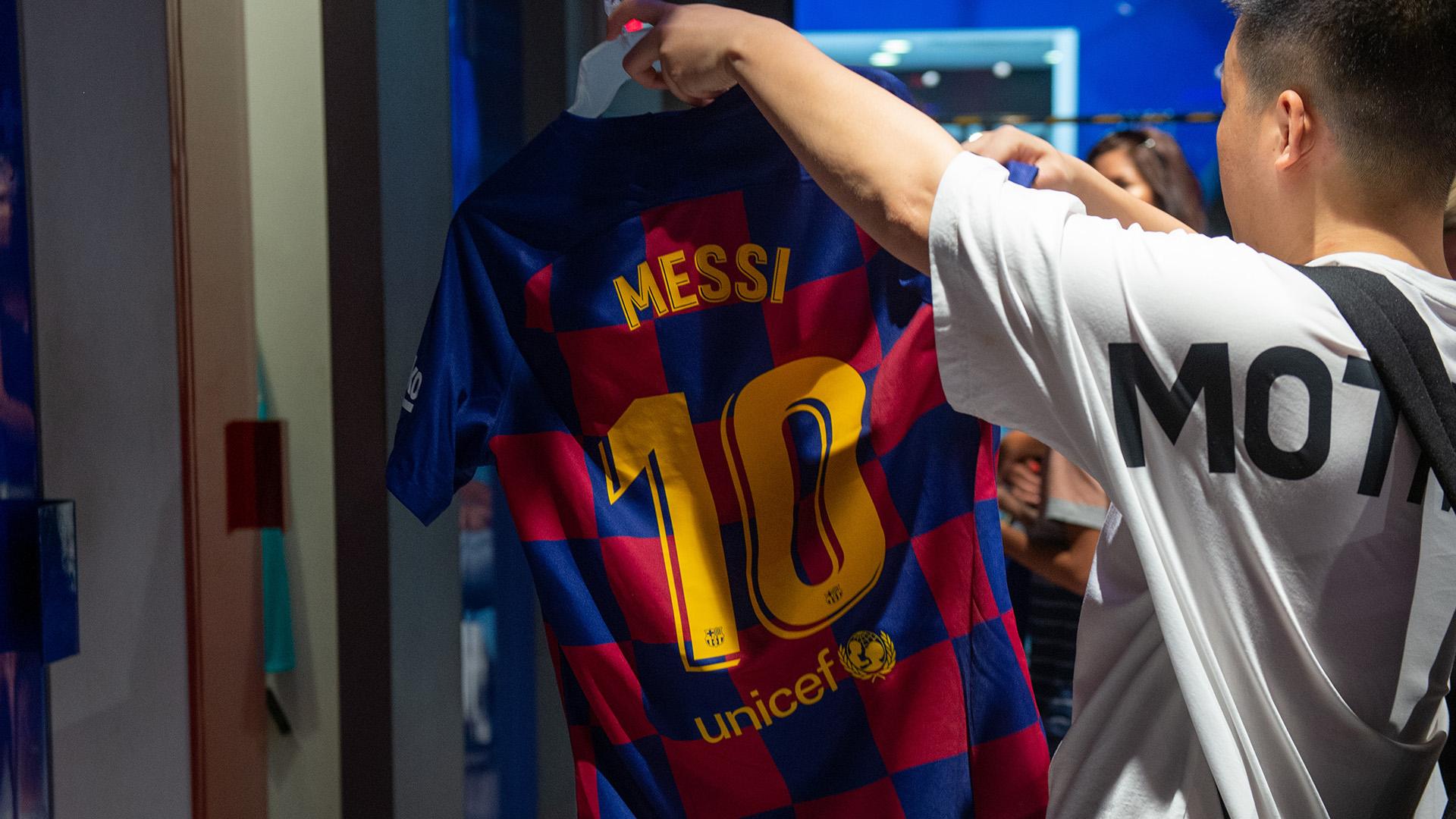 Lionel Messi chemise de Barcelone 2019