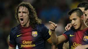 Carles Puyol Alexis Sanchez Barcelona