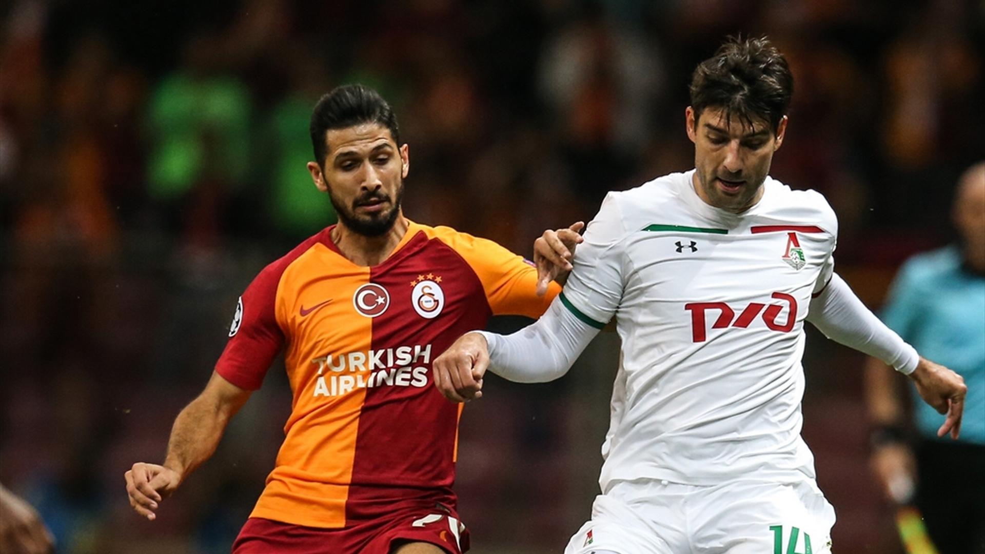 Emre Akbaba Vedran Corluka Galatasaray Lokomotiv Moscow 9182018 UCL