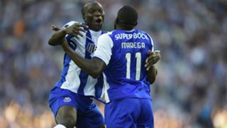 Vincent Aboubakar and Moussa Marega of FC Porto