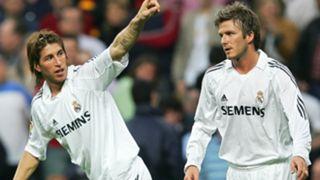 Sergio Ramos David Beckham Real Madrid