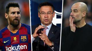 Lionel Messi Josep Bartomeu Pep Guardiola