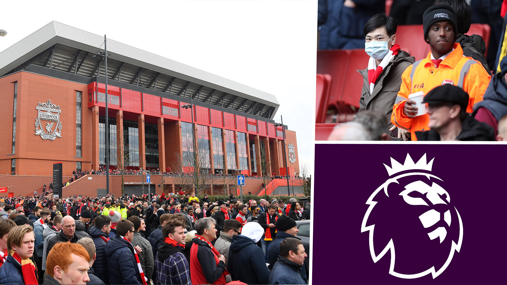 Only half of EPL clubs allowed fans when restrictions eased