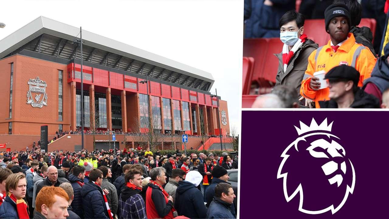 Anfield Premier League Emirates Stadium Coronavirus