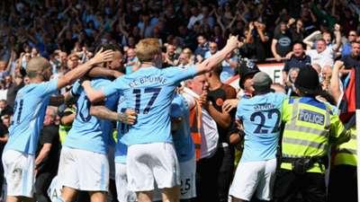Raheem Sterling celebration Manchester City Bournemouth 26082017