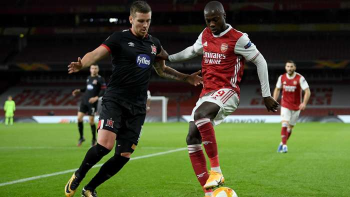 Nicolas Pepe Arsenal Dundalk Europa League 2020-21