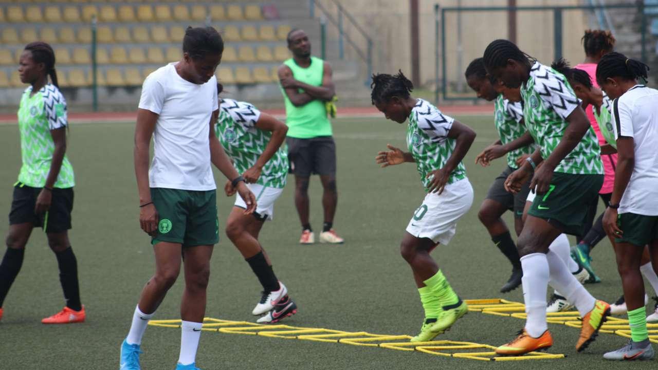 Super Falcons' final training for Algeria clash