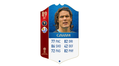 FIFA 18 World Cup CONMEBOL Ratings Cavani