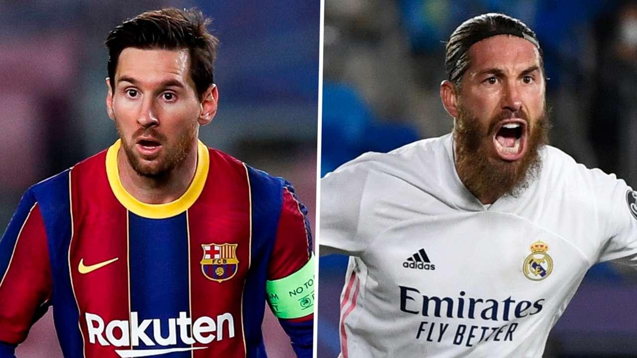 Lionel Messi Barcelona Sergio Ramos Real Madrid 2020-21