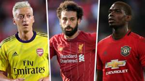 Mesut Ozil Mohamed Salah Paul Pogba Premier League 2019-20