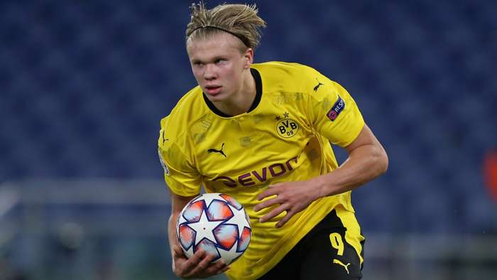 Erling Haaland, Borussia Dortmund 2020-21, Champions League