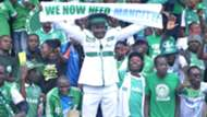 Gor Mahia fan number One Jaro Soja and fans.