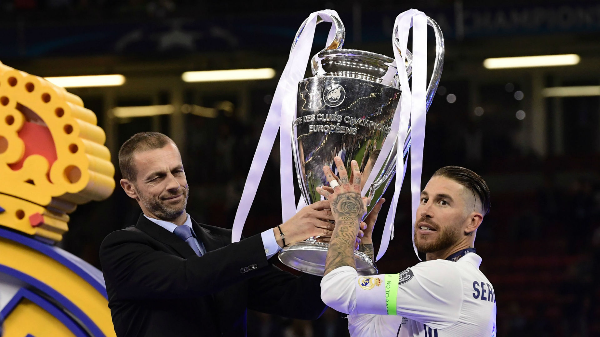 Sergio Ramos Real Madrid Champions League trophy