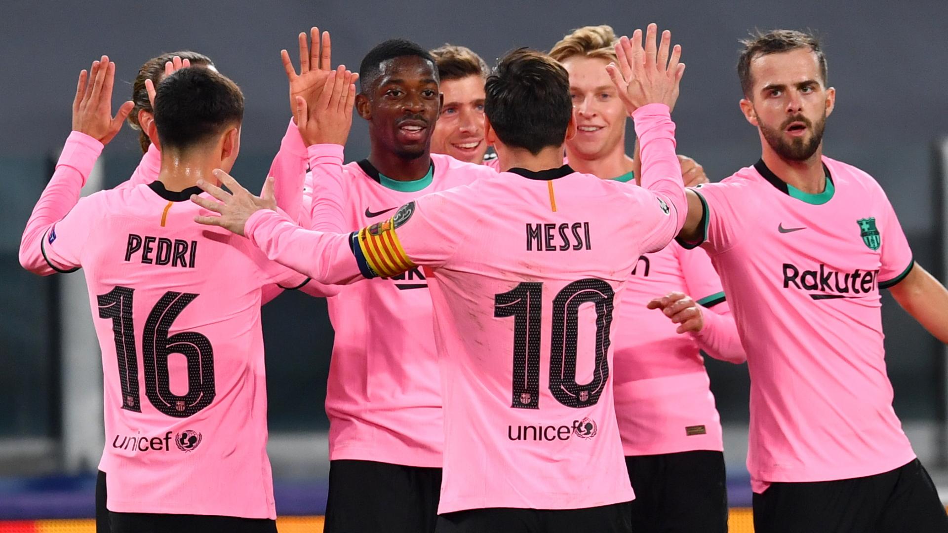 Juventus 0x2 Barcelona. Dembélé e Messi marcaram para o time catalão.
