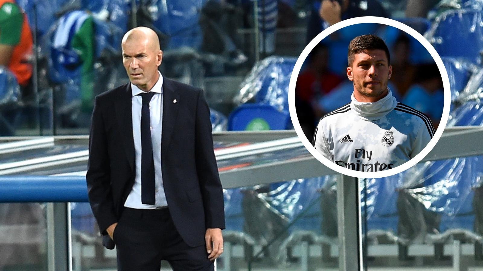 Real Madrid, Zidane nie avoir un problème avec Jovic