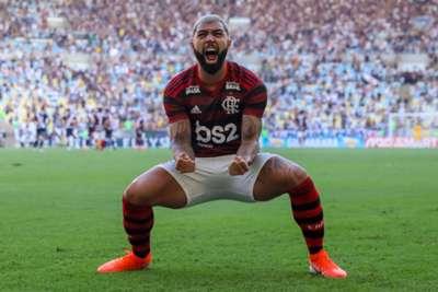 Gabigol festeja título do Flamengo