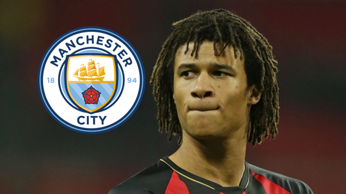 Nathan Ake, Bournemouth, Man City badge