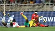 South Africa, Itumeleng Khune & Thamsanqa Mkhize against Senegal's Sadio Mane