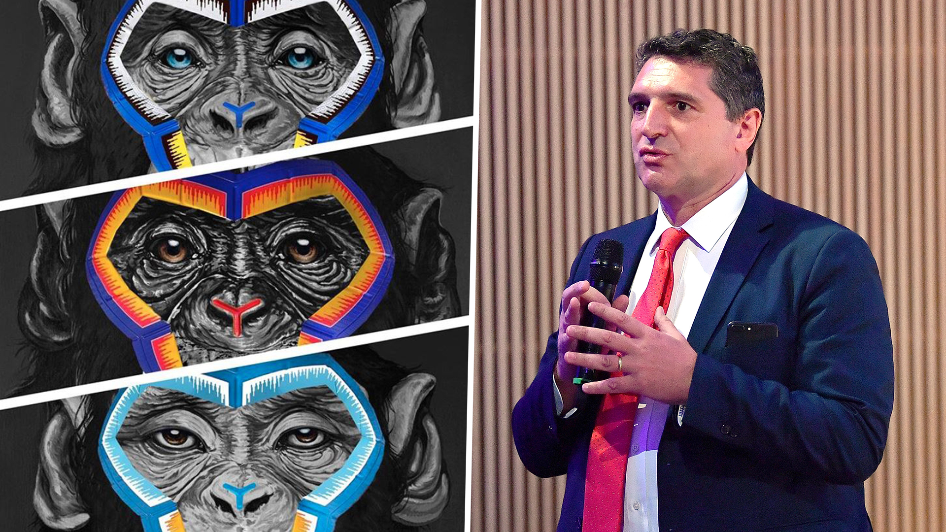 Artist at center of Italian anti-racism row defends ape pictures