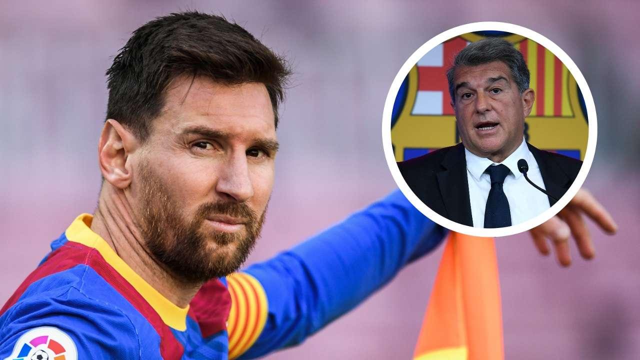 Messi Laporta Barcelona GFX