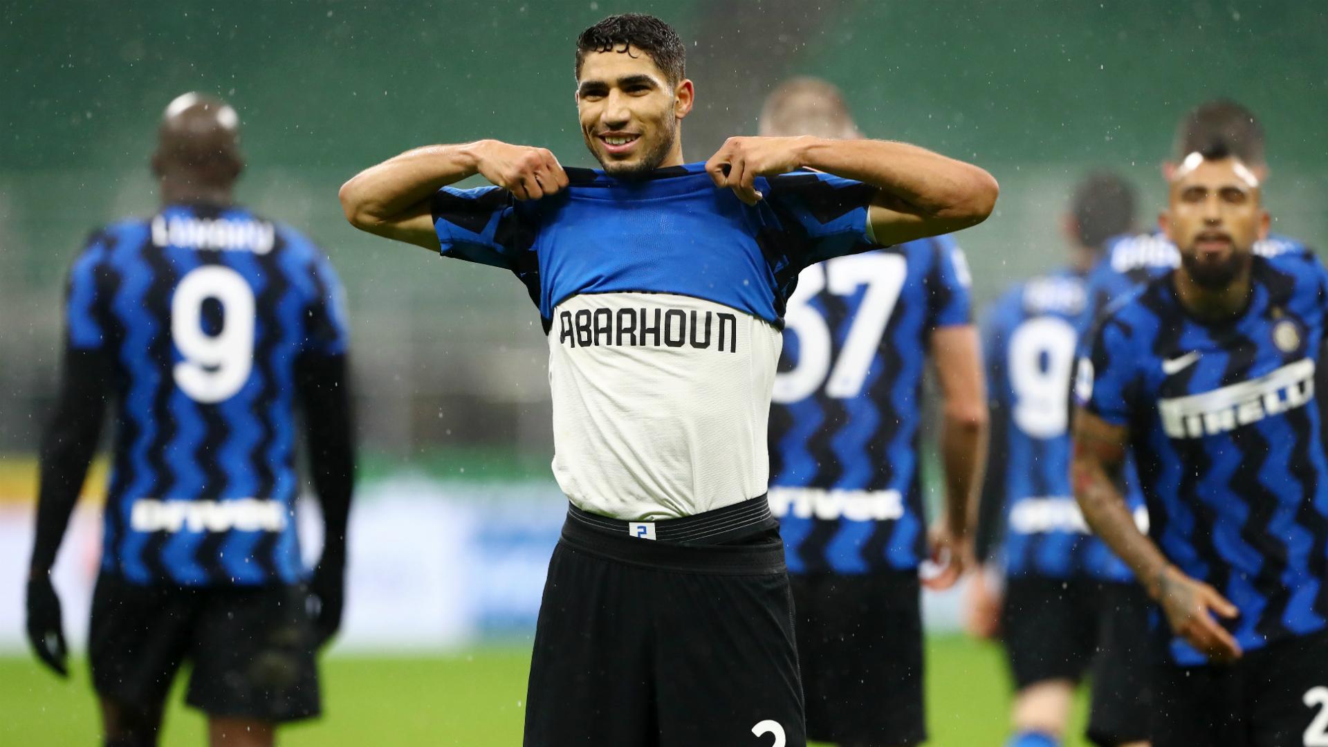 Inter Milan wing-back Hakimi dedicates Serie A brace to late Morocco  defender Abarhoun   Goal.com