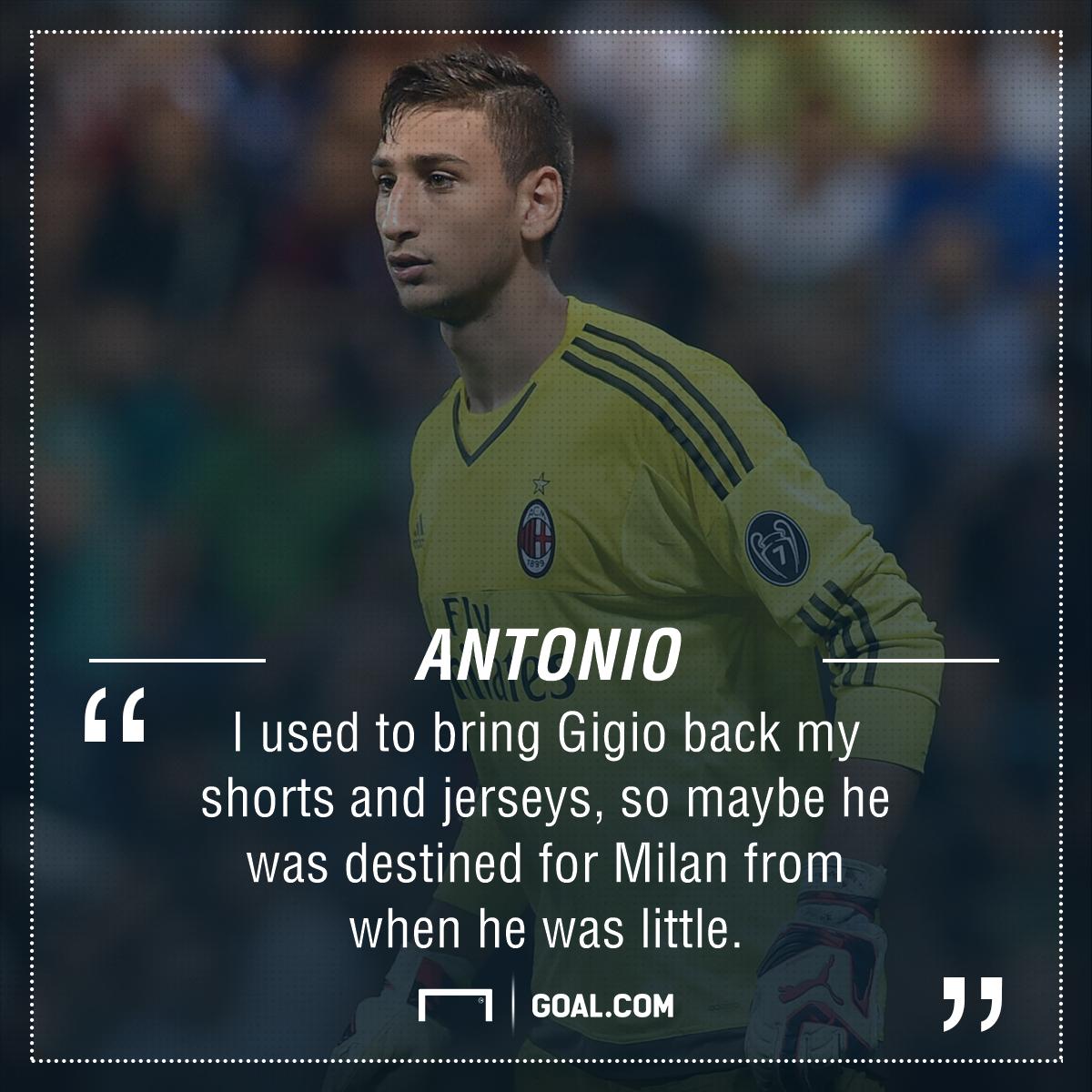 Antonio Donnarumma My Little Brother Gianluigi Was Destined To Be Milan S No 1 Goal Com
