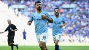 Sergio Aguero Manchester City Chelsea Community Shield 2018